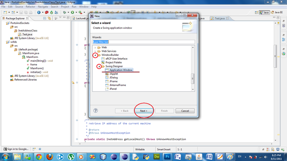 how to make a gui in java eclipse